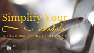 house cleaning schedule app
