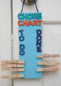 clothespin chore chart