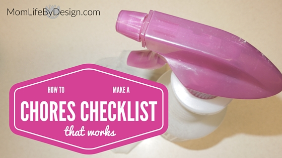 household chores checklist